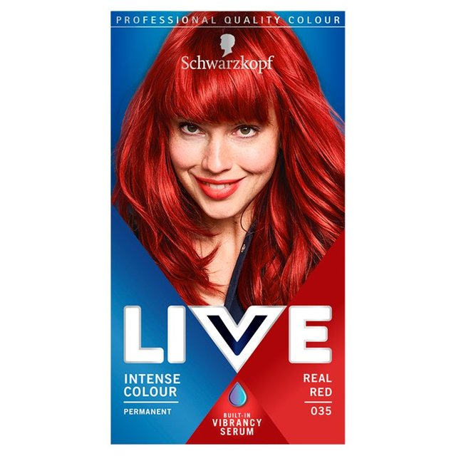 Morrisons: Schwarzkopf LIVE Intense Colour 035 Real Red ...