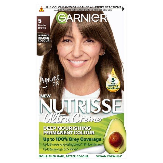 Garnier Nutrisse Creme Permanent Nourishing Hair Colour Mocha 5 Brown
