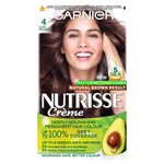Garnier Nutrisse Creme Permanent Nourishing Hair Colour 4 Cocoa Dark Brown
