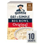 Quaker Oat So Simple Big Bowl Original Porridge 10x38.5g