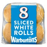 Warburtons Sliced White Rolls