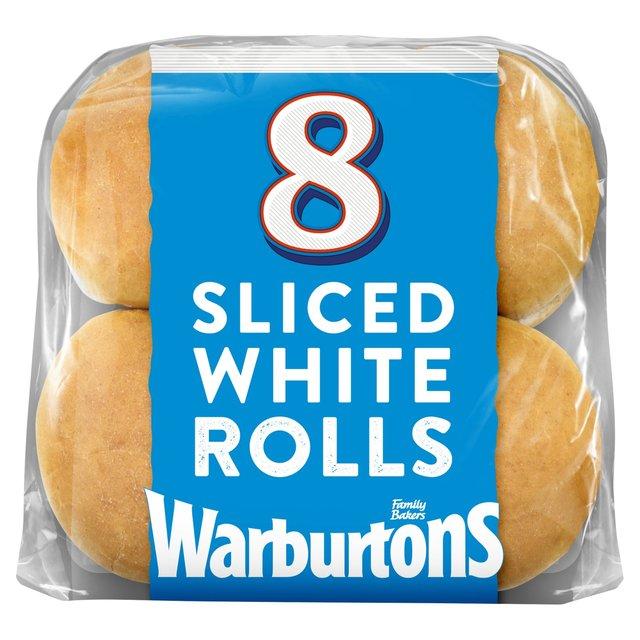 MORRISONS > Bakery > Warburtons Sliced White Rolls