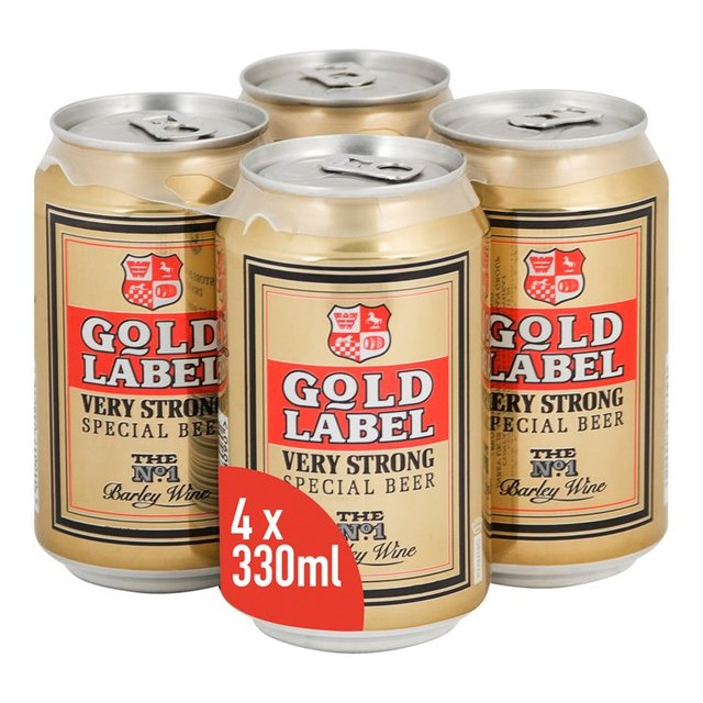 Gold Label Very Strong Special Beer cans