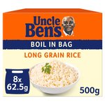 Uncle Ben's Boil in Bag Long Grain Rice 8 Pack