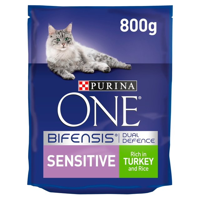 morrisons purina one sensitive cat turkey and rice 800g. Black Bedroom Furniture Sets. Home Design Ideas