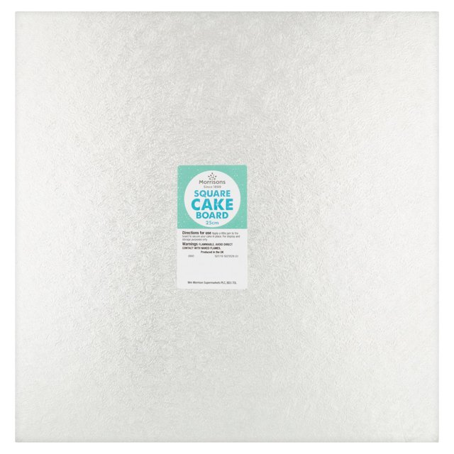 Morrisons 25cm Square Cake Board