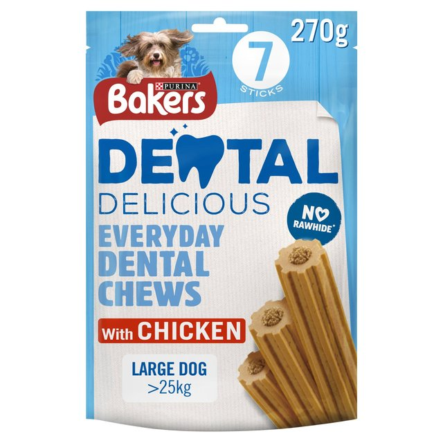 Bakers Dental Delicious Large Dog Treat Chicken