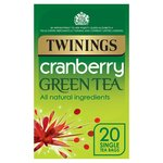 Twinings Cranberry Green Tea Bags 20s