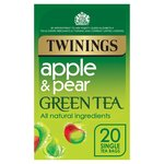 Twinings Apple & Pear Green Tea Bags 20s