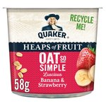 Quaker Oat So Simple Banana & Strawberry Porridge Pot 58g