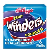 Kellogg's Fruit Winders Doubles Strawberry & Blackcurrant Multipack