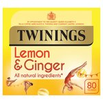 Twinings Lemon & Ginger Tea Bags 80s