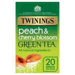Twinings Peach and Cherry Blossom Green Tea Bags 20s