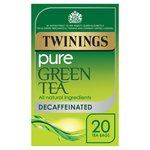 Twinings Decaffeinated Green Tea Bags 20s