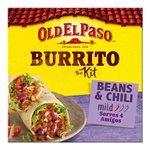 Old El Paso Beans & Chili Burrito Kit 620g