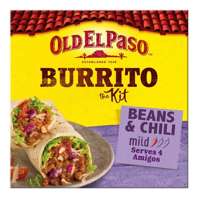 Old El Paso Beans & Chili Burrito Kit 620g