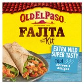 Old El Paso Extra Mild Super Tasty Sizzling Fajita Dinner Kit