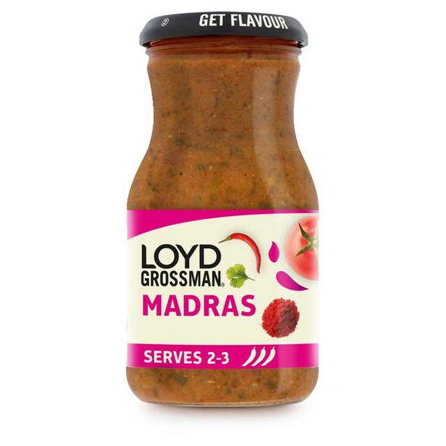 Loyd Grossman Madras Hot Curry Sauce