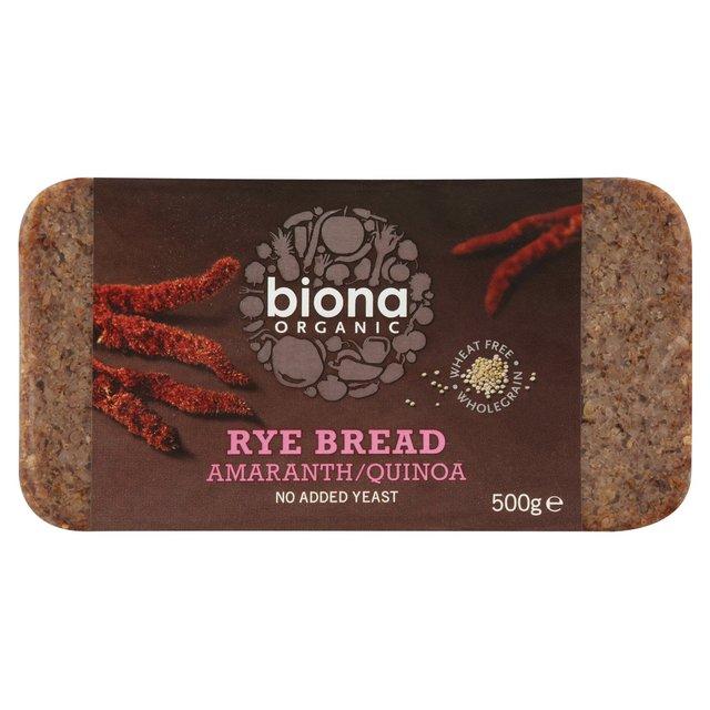Quinoa Bread Brands Biona quinoa & rye bread 500g