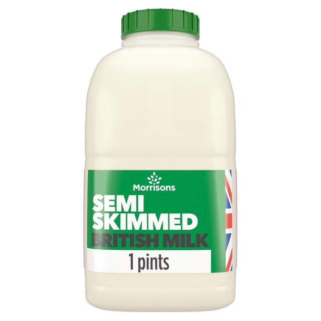 morrisons morrisons british semi skimmed milk 1 pint
