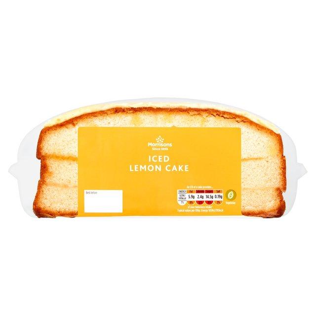 Morrisons: Morrisons Iced Lemon Madeira Cake (Product ...
