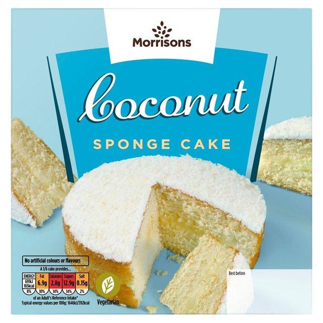 Decorate At Home Madeira Cake Morrisons : Morrisons: Morrisons Coconut Sponge Cake (Product Information)