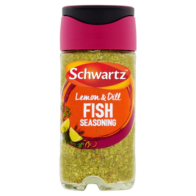 Morrisons schwartz fish seasoning 55g product information for Best seasoning for fish
