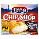 Youngs Chip Shop 4 Large Battered Haddock Fillets