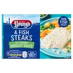 Youngs 4 Fish Steaks In Parsley Sauce