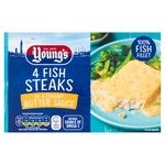 Young's 4 Fish Steaks In Butter Sauce