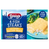 Youngs 4 Fish Steaks In Butter Sauce