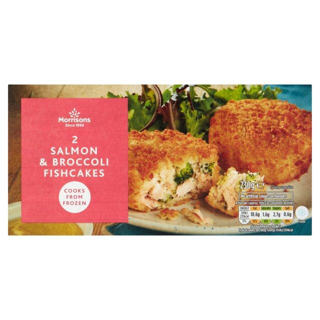 Morrisons 2 Salmon & Broccoli Fish Cakes