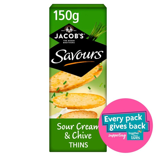 Jacob's Savours Sour Cream & Chive Thins