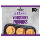 Morrisons 6 Large Yorkshire Puddings