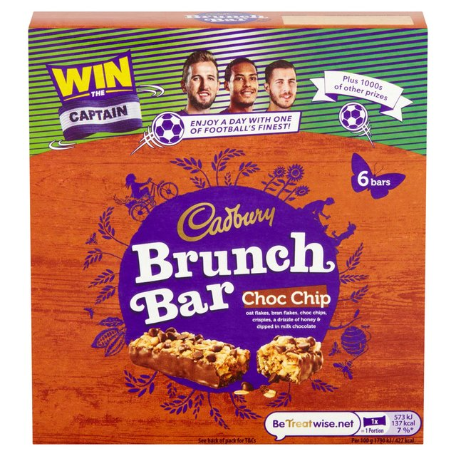 Cadbury Brunch Bar Chocolate Chip 6 Pack