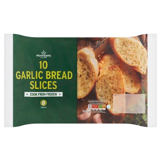 Morrisons: Morrisons 10 Garlic Bread Slices 10 x 26g ... Garlic Bread Brands