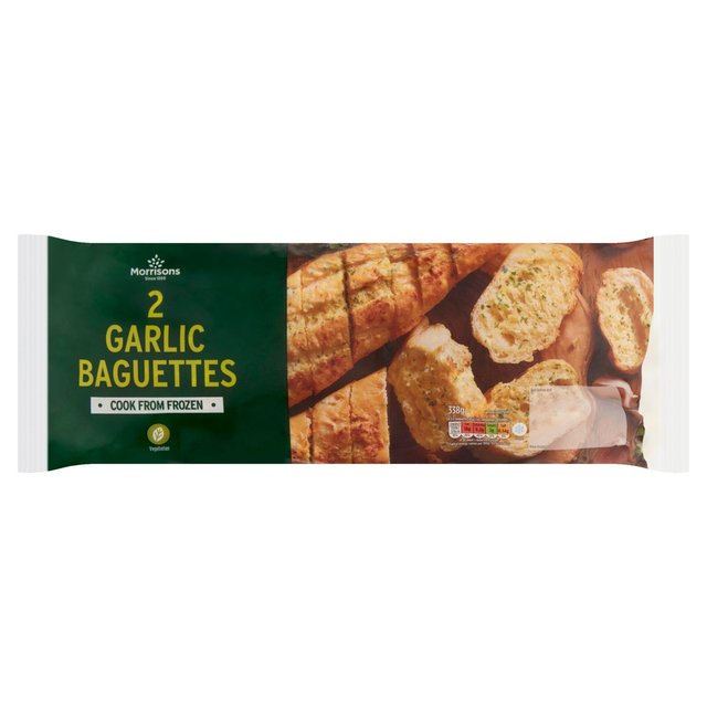 Morrisons 2 Garlic Baguettes