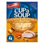Batchelors Cup a Soup Chicken & Vegetable with Croutons 4 Sachets