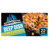 Chicago Town Deep Dish Ham & Pineapple Pizzas