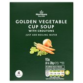 Morrisons Golden Vegetable Cup Soup with Croutons 4 Sachets