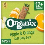 Organix Goodies Apple & Orange Soft Oaty Bars 6s