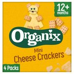Organix Mini Organic Cheese Crackers Toddler Snack Multipack