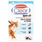 Bob Martin Clear Spot on for Cats - kills Fleas & Ticks (1 treatment)