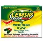 Lemsip Cough Max for Mucus Cough & Cold Caplets