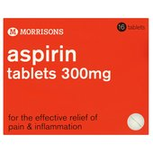 Morrisons Aspirin Tablets 300mg