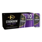 Strongbow Dark Fruit Cider Cans, Delivered Chiilled