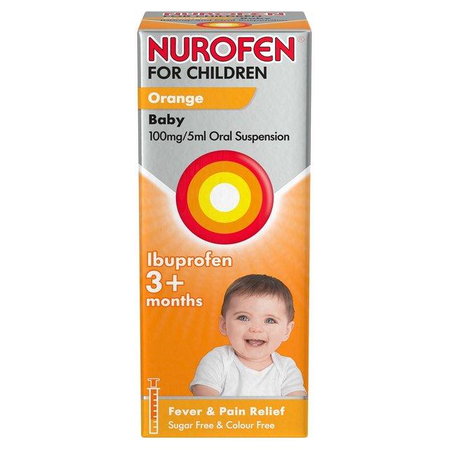 Nurofen for Children Baby Orange Liquid Ibuprofen