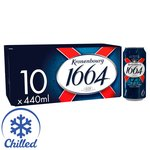 Kronenbourg 1664 Cans. Delivered Chilled