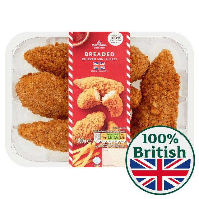 Morrisons: Morrisons Breaded Mini Chicken Fillets 300g ...