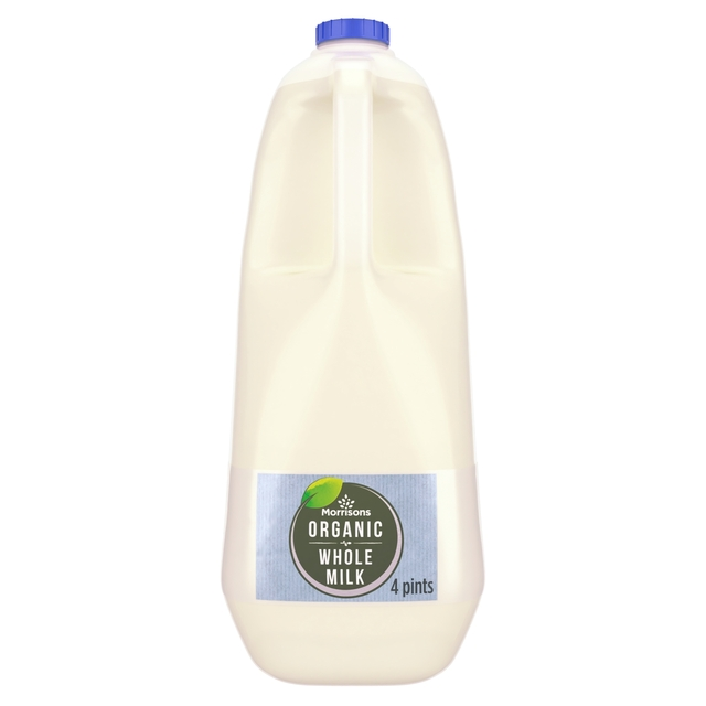 M Organic British Whole Milk 4 Pints